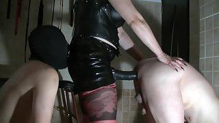 Mistress strappon two slave