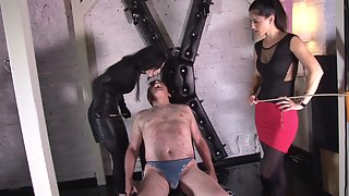 Black Diamoond - Caning on his naked ass