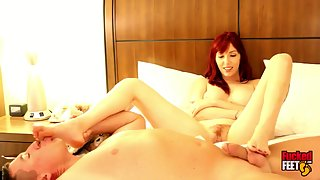 FuckedFeet - Lauren Phillips - A Hot Redhead With Big Feet