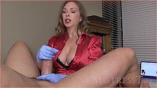 Mistress T - medical clinic ejaculation test