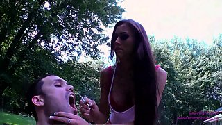 BratPrincess - Alexis Grace Uses a Human Ash Tray for Two Cigarettes