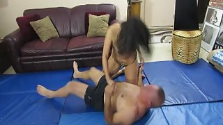 Kristiana Roughs Him Up