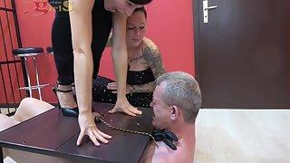 DangerousGirls - Full weight ball and cock stomping