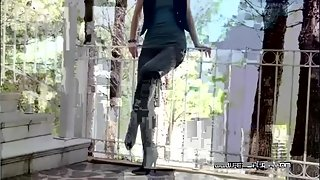 Fetish Liza - Walking in long leather boots