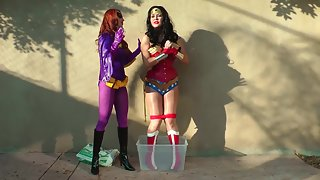 AnastasiaPierce - Batgirl Vs Wonder Woman Concrete Disposal