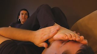 Foot Slave - Annabellas TV Night