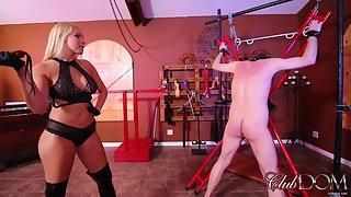 Vanessa Cage Whips the slave