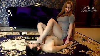 Goddess Jessica - Nylon Foot Domination Leg Smother