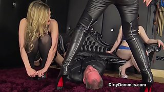 DirtyDommes - Human Seat For Three Dommes