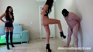 Ballbusting Slave To His Knees