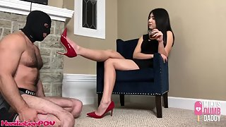 HumiliationPOV - Shoe Pig Licks The Heels That He Paid For