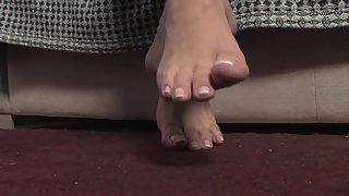 Femdom - FeetJeans - Tall brunette with big feet