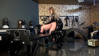 Anal and Strap-On Session in Dungeon