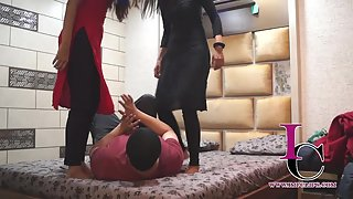 Husband Punished by Wife and Saali