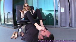 BratPrincess - Amber - Loser Licks Filthy Shoes to Earn Stinky Foot Worship