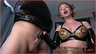 Mistress T - aggressively milked