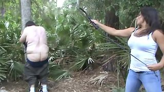 ShePunishes - Extremely Cruel Outdoor Bullwhipping By Mikaela