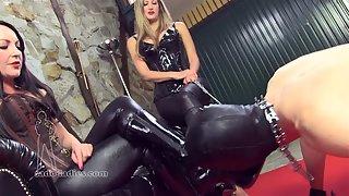 Mistress Jessica & Mistress Whiplash - Boot Licker's Duty