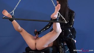 Ruined orgasm by the Rubber Mistress