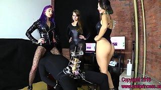Goddess Amadahy, Alexa, Natalya & Sasha Foxxx - New Hire Trained to Tease for Pre Cum Extraction