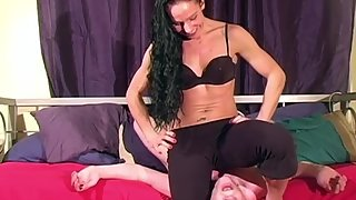 MistressTrish - Immobilized By Her Muscles