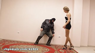 LesleyFox - Lora - Strong Girl Destroy 2 Guys