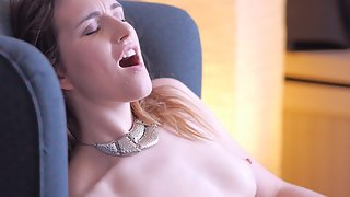 Hot moans and dildo play
