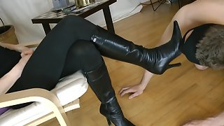 GoddessLeyla - Clean My Boots With Your Tongue