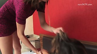 MFVideo - Adriana & Michelle - Give Me Back Or I'll Punch Your Belly