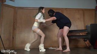 Brutal Ballbusting Beatdown with Miss XI P2