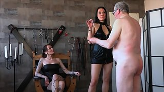 Caning old slave