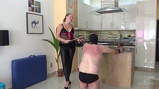 Lady Cruella - The Beaten Landlord Cruel Caning