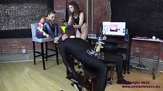 [BratPrincess] Cow Forced To Drink Contents Of Enema Bag